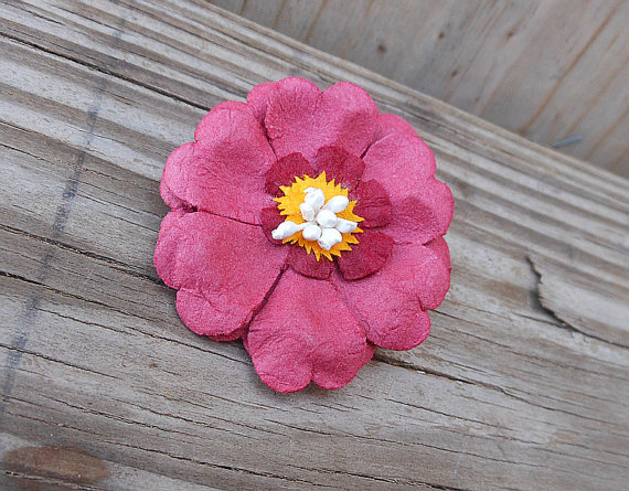 Accessory flower brooch paper flower brooch handmade flower pin accessory flower brooch paper flower brooch handmade flower pin brooch red paper flower mightylinksfo